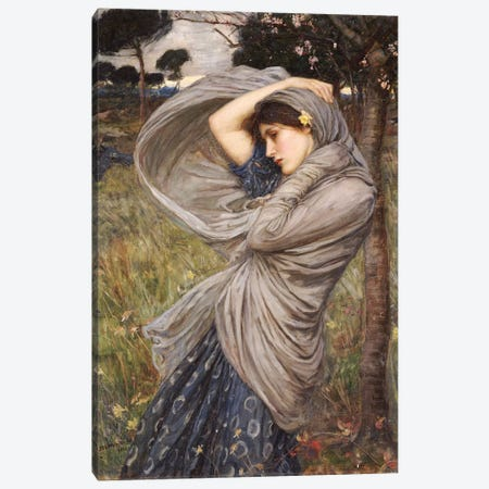Boreas, 1903 Canvas Print #BMN6757} by John William Waterhouse Canvas Art