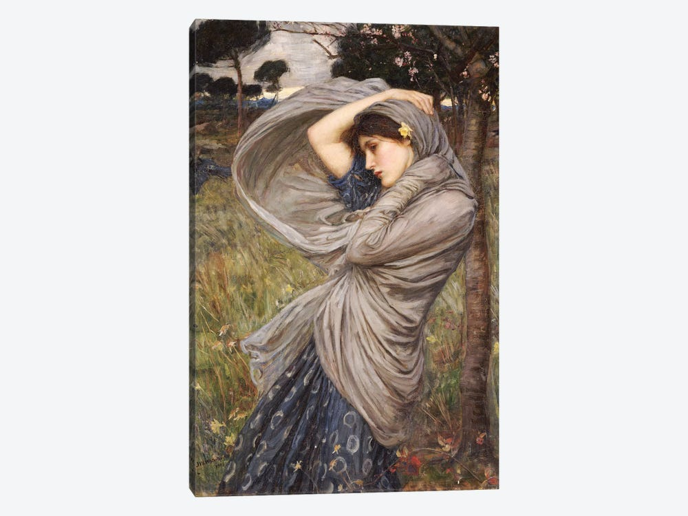 Boreas, 1903 by John William Waterhouse 1-piece Canvas Wall Art