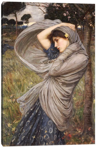 Boreas, 1903 Canvas Art Print