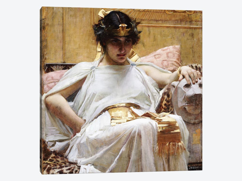 Cleopatra, c.1887 by John William Waterhouse 1-piece Canvas Wall Art