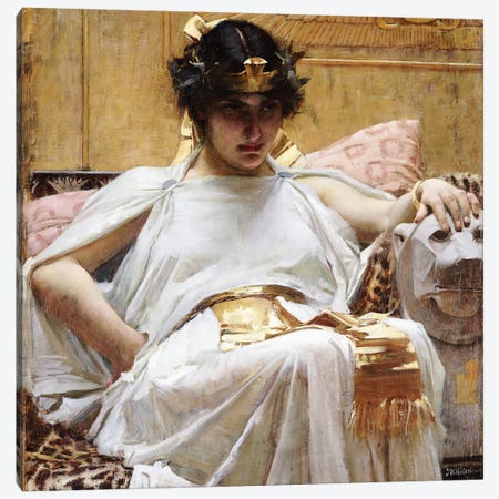 Cleopatra, c.1887 Canvas Print #BMN6759} by John William Waterhouse Canvas Art Print