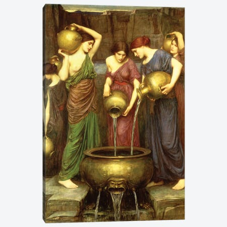 Danaides, 1904 Canvas Print #BMN6760} by John William Waterhouse Canvas Wall Art