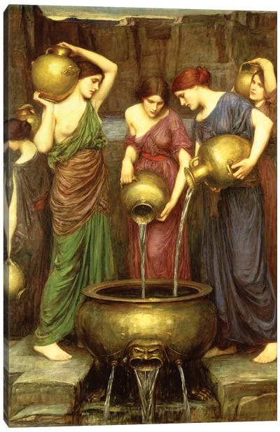 Danaides, 1904 Canvas Art Print