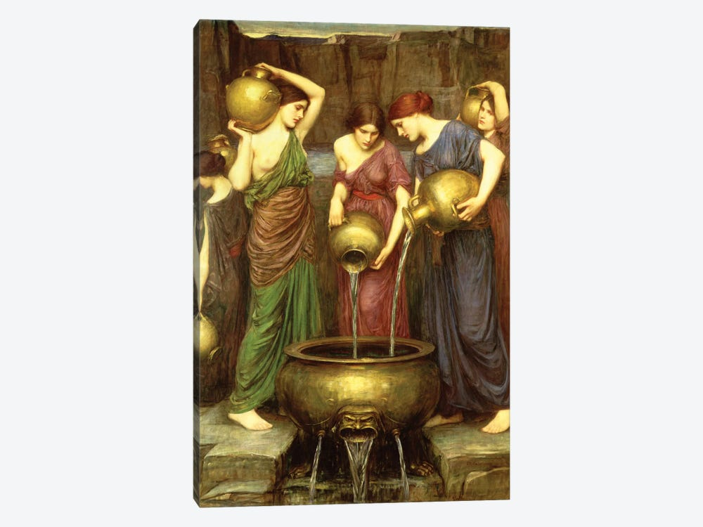 Danaides, 1904 by John William Waterhouse 1-piece Canvas Art