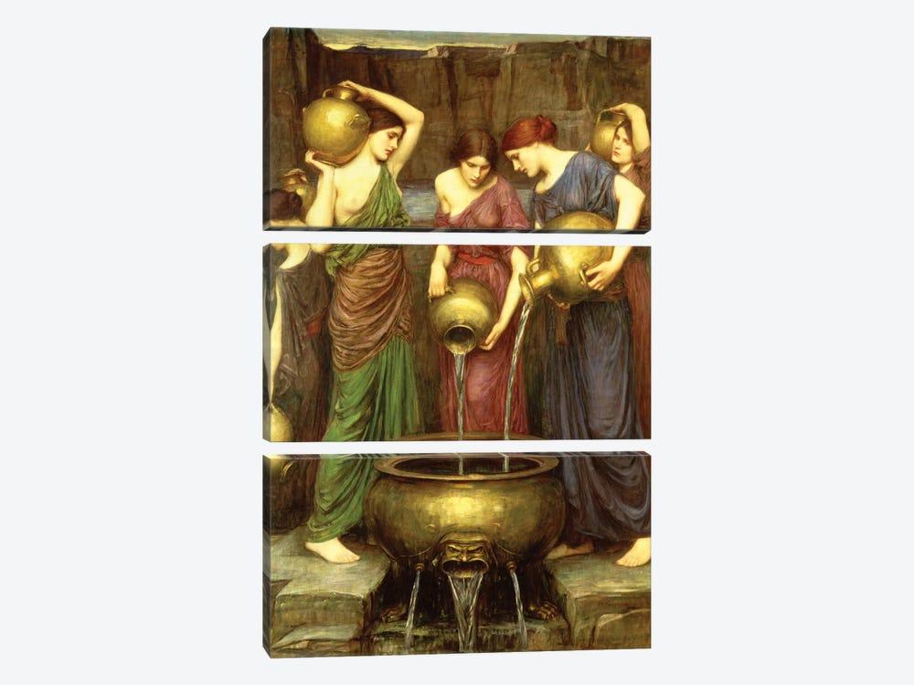 Danaides, 1904 by John William Waterhouse 3-piece Canvas Artwork
