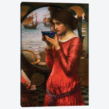 Destiny, 1900 3-Piece Canvas #BMN6761} by John William Waterhouse Canvas Artwork