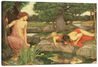 Echo And Narcissus, 1903 Canvas Art Print