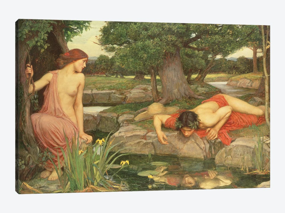 Echo And Narcissus, 1903 by John William Waterhouse 1-piece Canvas Art