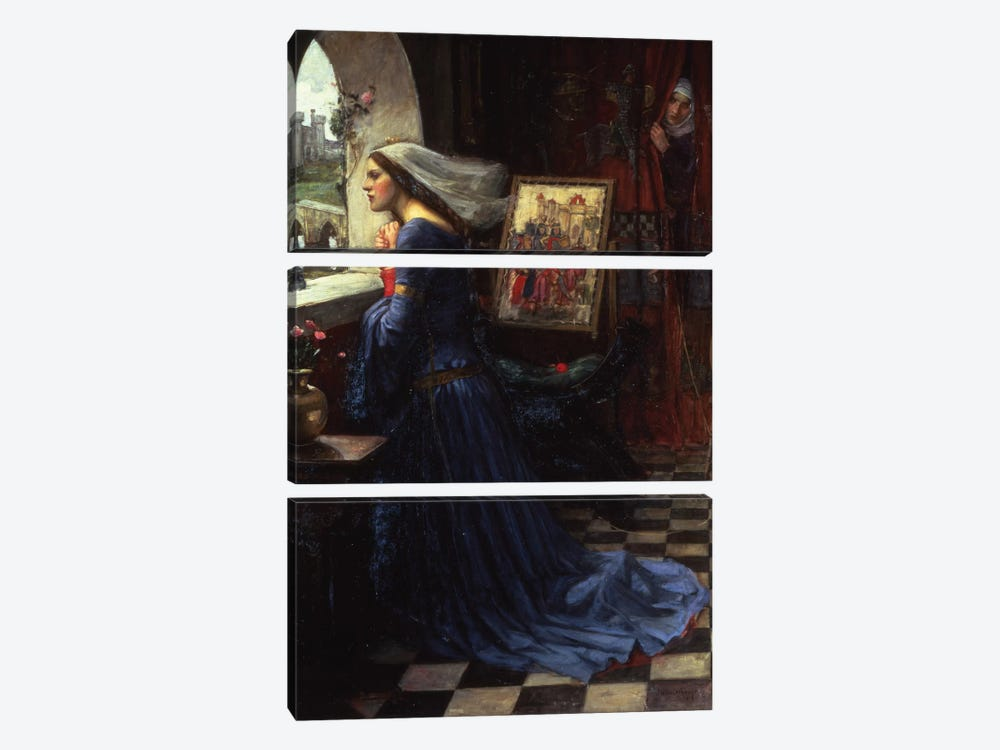 Fair Rosamund, 1916 by John William Waterhouse 3-piece Canvas Art Print