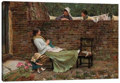 Gossip, c.1885 Canvas Art Print