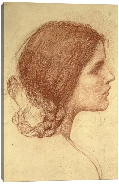 Head Of A Girl, c.1905 Canvas Print #BMN6767