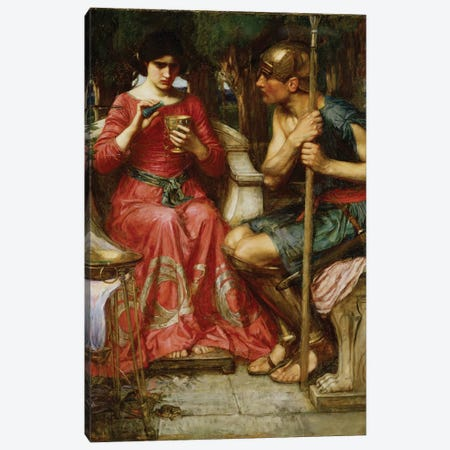 Jason And Medea, 1907 Canvas Print #BMN6768} by John William Waterhouse Canvas Art