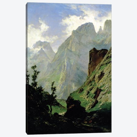 Mountains in Europe, 1876  Canvas Print #BMN676} by Carlos de Haes Canvas Art