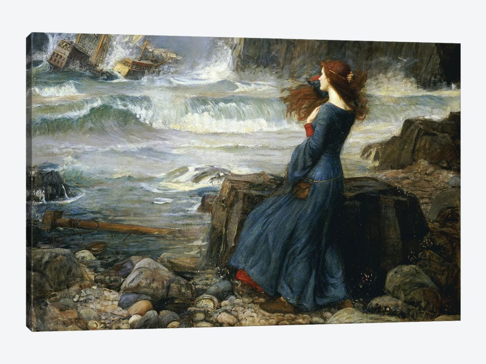 Miranda - The Tempest, 1916 by John William Waterhouse 1-piece Canvas Wall Art