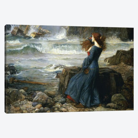 Miranda - The Tempest, 1916 Canvas Print #BMN6771} by John William Waterhouse Canvas Art Print