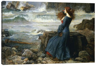 Miranda - The Tempest, 1916 Canvas Art Print