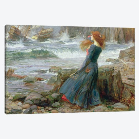 Miranda, 1916 Canvas Print #BMN6772} by John William Waterhouse Canvas Art Print