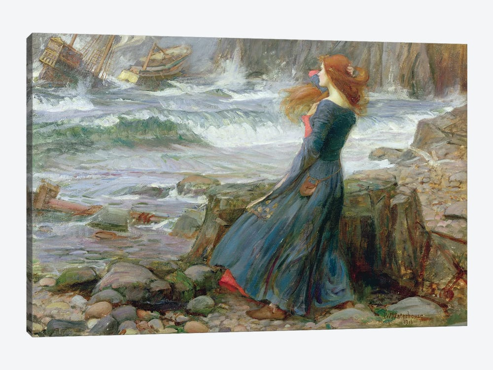 Miranda, 1916 by John William Waterhouse 1-piece Art Print