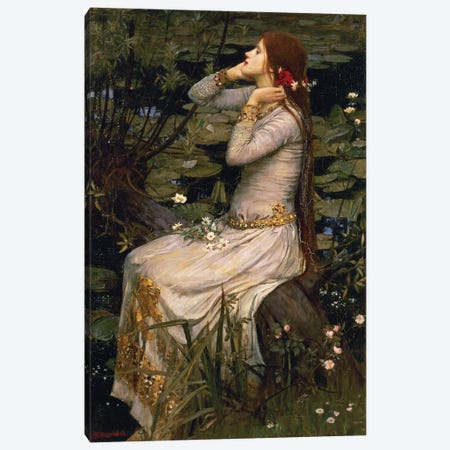 Ophelia, 1894 Canvas Print #BMN6773} by John William Waterhouse Canvas Art Print