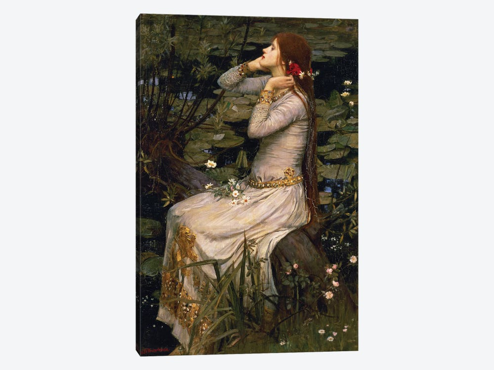 Ophelia, 1894 by John William Waterhouse 1-piece Canvas Wall Art
