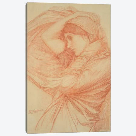 Study For Boreas Canvas Print #BMN6775} by John William Waterhouse Canvas Art