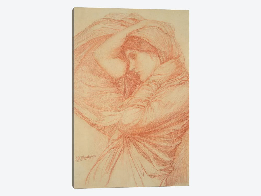 Study For Boreas by John William Waterhouse 1-piece Canvas Art