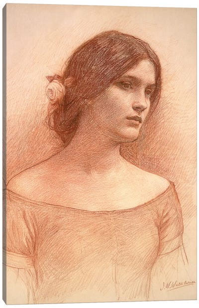 Study For The Lady Clare, c.1900 Canvas Art Print