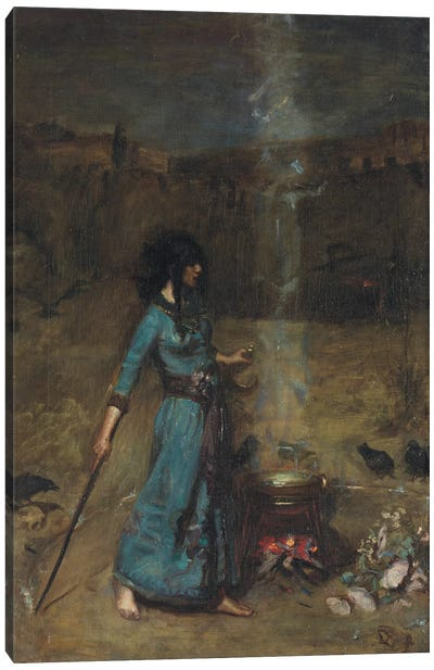 Study For The Magic Circle, 1886 Canvas Art Print