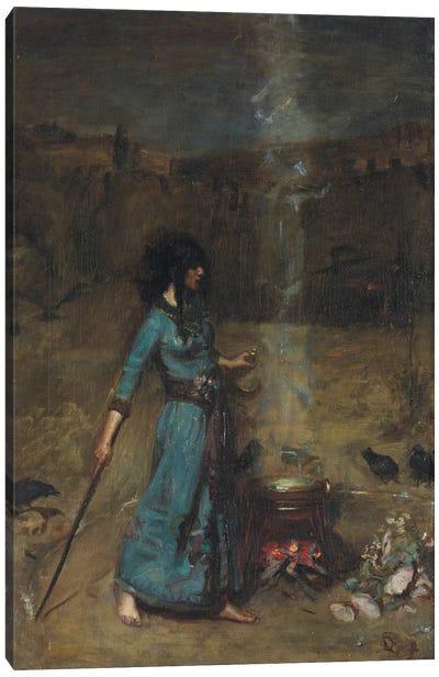 Study For The Magic Circle, 1886 Canvas Art Print