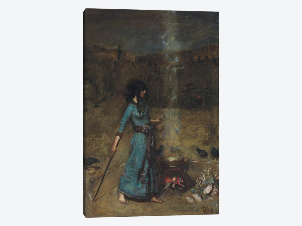 Study For The Magic Circle, 1886 by John William Waterhouse 1-piece Canvas Artwork