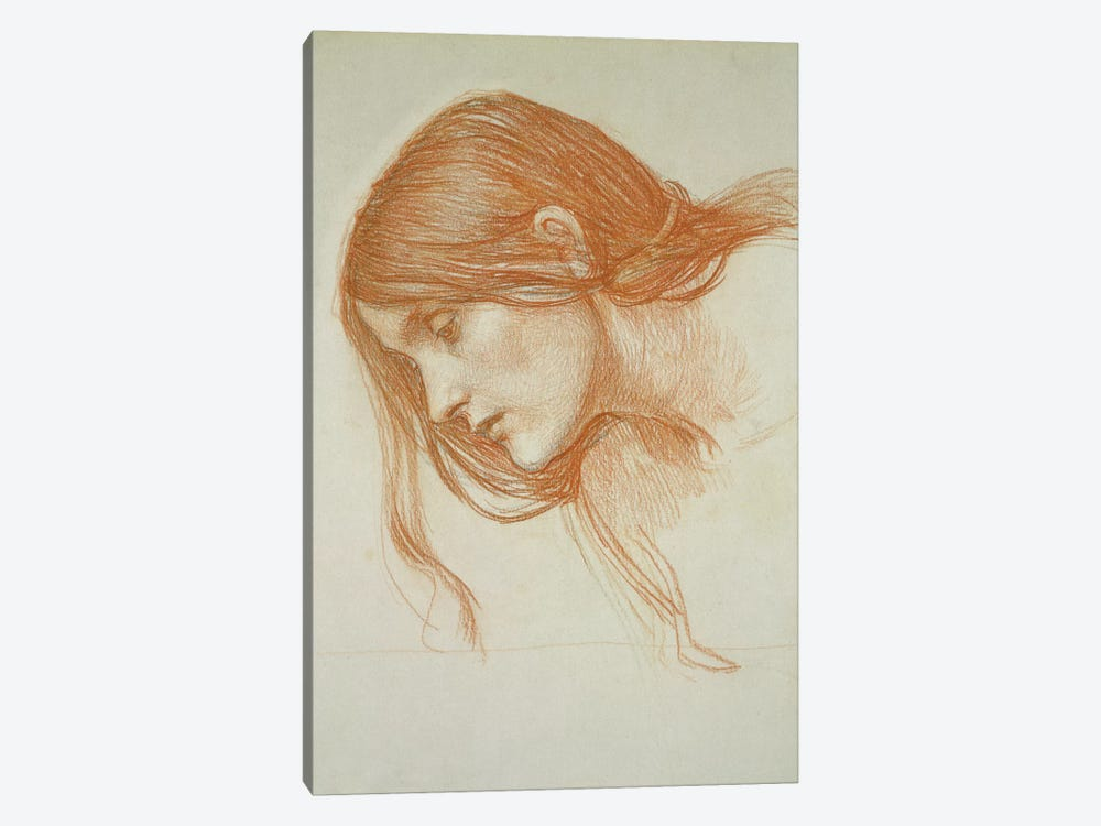 Study Of A Girl's Head by John William Waterhouse 1-piece Art Print
