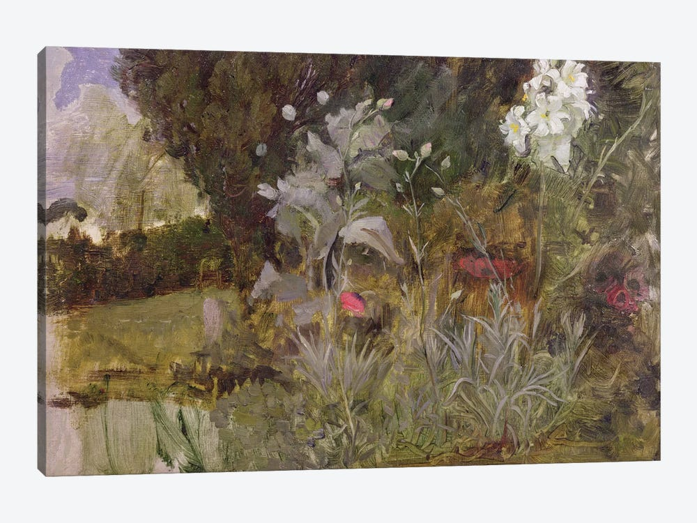 Study Of Flowers And Foliage For The Enchanted Garden by John William Waterhouse 1-piece Canvas Artwork