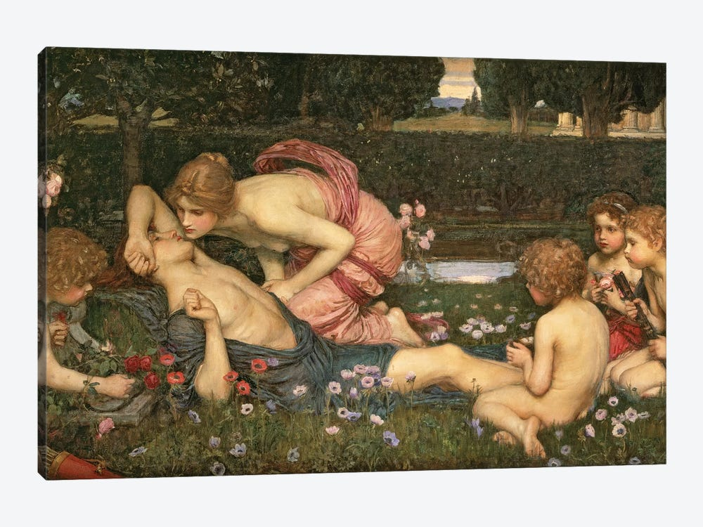 The Awakening Of Adonis, 1899 by John William Waterhouse 1-piece Canvas Wall Art