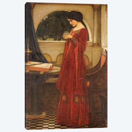 The Crystal Ball, 1902 Canvas Print #BMN6781} by John William Waterhouse Canvas Wall Art