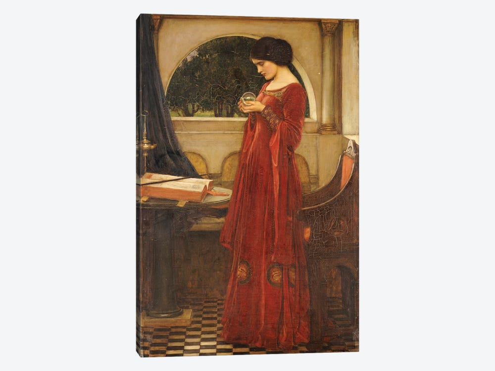 The Crystal Ball, 1902 by John William Waterhouse 1-piece Canvas Art Print