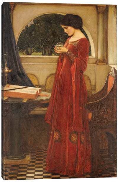 The Crystal Ball, 1902 Canvas Art Print