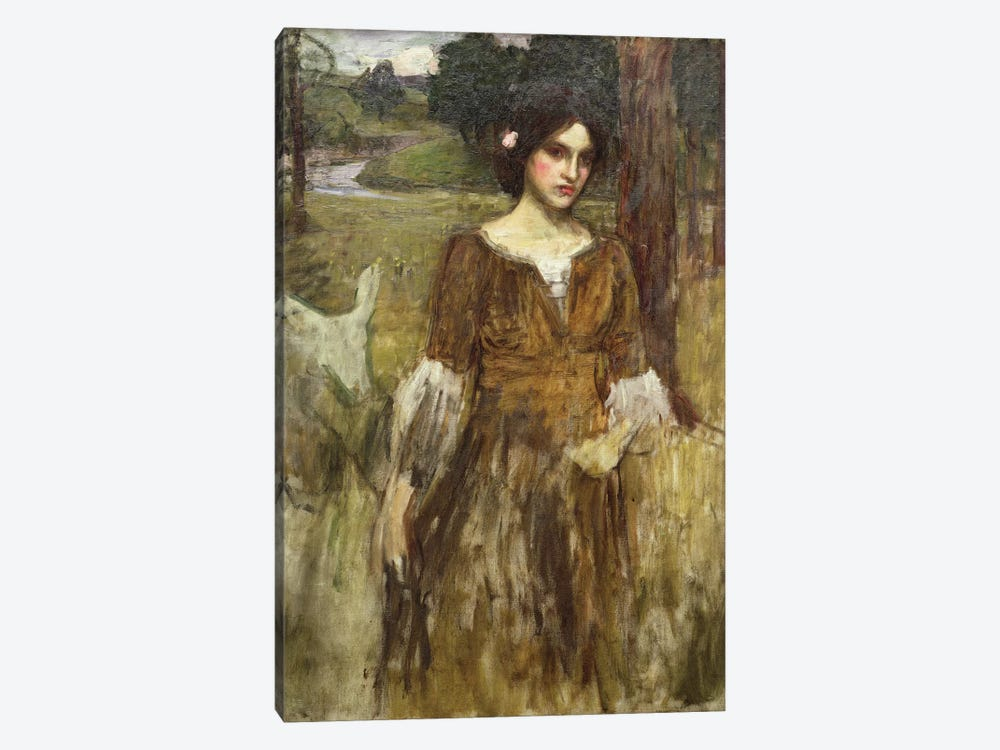 The Lady Clare, c.1900 by John William Waterhouse 1-piece Canvas Artwork