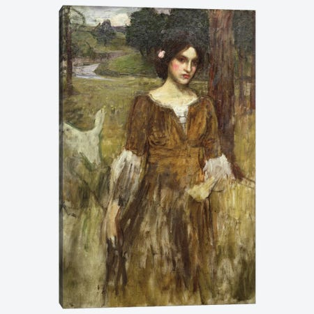 The Lady Clare, c.1900 Canvas Print #BMN6784} by John William Waterhouse Art Print