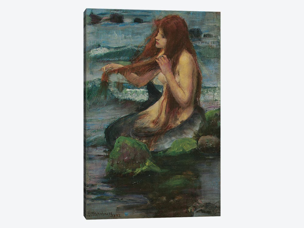 The Mermaid, 1892 by John William Waterhouse 1-piece Canvas Art Print