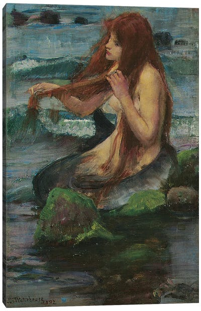 The Mermaid, 1892 Canvas Art Print