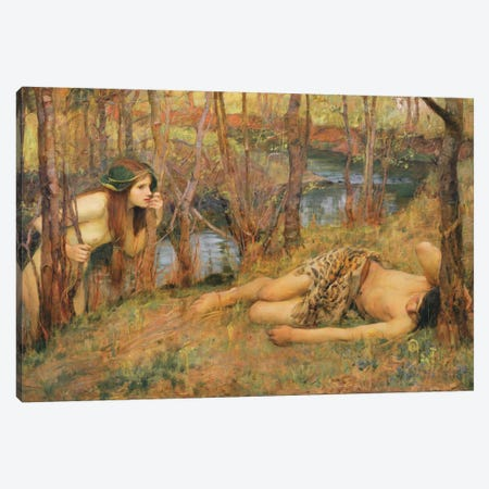The Naiad, 1893 Canvas Print #BMN6786} by John William Waterhouse Canvas Print