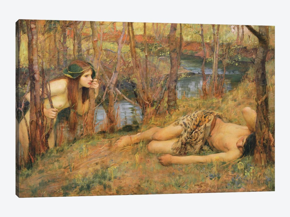 The Naiad, 1893 by John William Waterhouse 1-piece Canvas Artwork