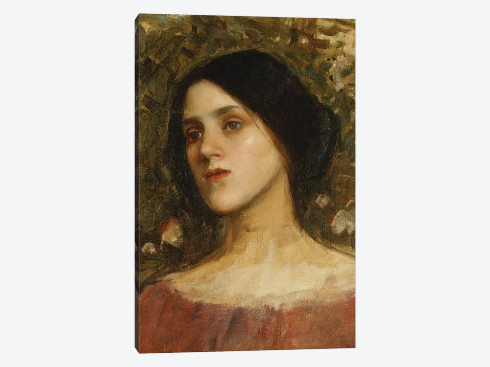 The Rose Bower by John William Waterhouse 1-piece Canvas Wall Art