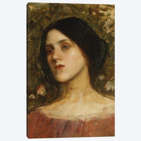 The Rose Bower Canvas Print #BMN6788} by John William Waterhouse Canvas Artwork