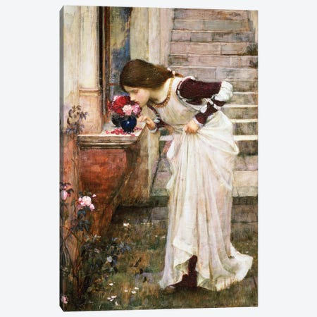 The Shrine Canvas Print #BMN6789} by John William Waterhouse Canvas Wall Art