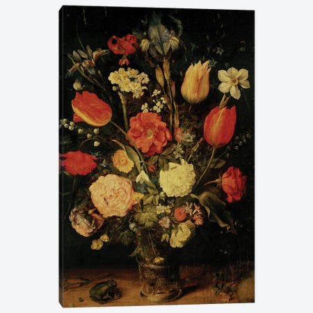 Still Life of Flowers  Canvas Print #BMN678} by Jan Brueghel the Elder Canvas Art Print