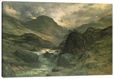 A Canyon, 1878 Canvas Art Print