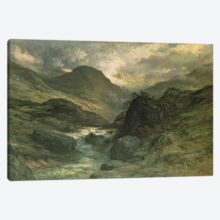 A Canyon, 1878 Canvas Print #BMN6791} by Gustave Dore Canvas Print