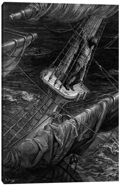 And I Had Done A Hellish Thing, And It Would Work'em Woe (Illustration From Coleridge's The Rime Of The Ancient Mariner) Canvas Art Print