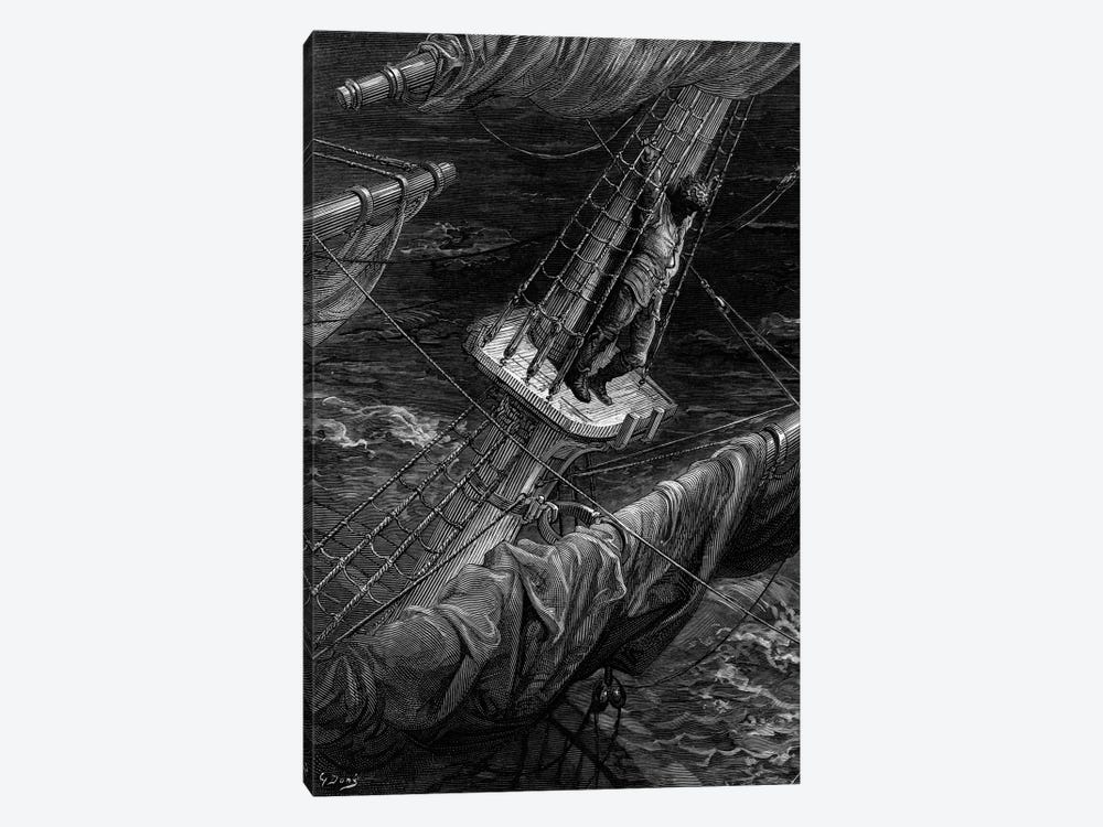 And I Had Done A Hellish Thing, And It Would Work'em Woe (Illustration From Coleridge's The Rime Of The Ancient Mariner) by Gustave Dore 1-piece Canvas Artwork